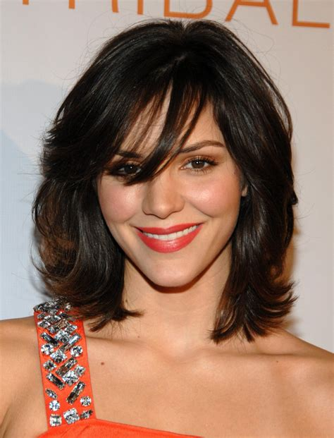 shoulder length hair for women with pear shaped faces katharine mcphee s medium length shag the best