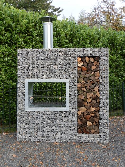gabion banc barbecue gabion bois vertical jardivrac d 233 coration de