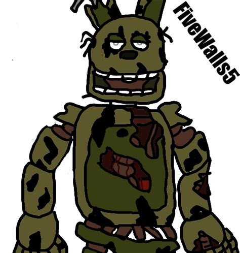 image of a fan springtrap fan art 1 by fivewalls5 on deviantart