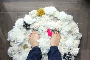 how to make a diy pom pom rug make do crew