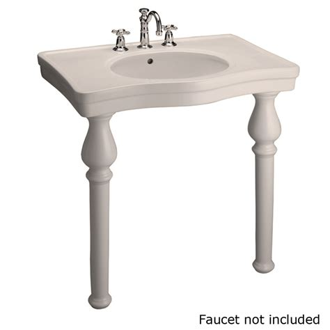 Bathroom Sink Legs Lowes Shop Barclay Bisque Wall Mount Rectangular Bathroom Sink