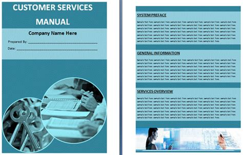 customer service manual template boring work made easy free templates for creating manuals