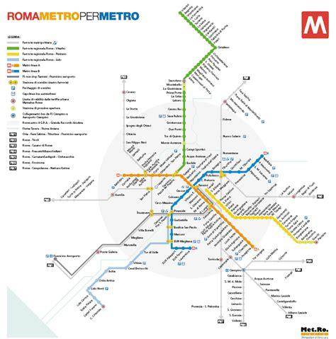 rome metro map rome metro map roma italy mappery