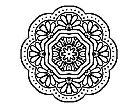 imagenes de mandalas antiguos dibujo de mandala mosaico modernista para colorear