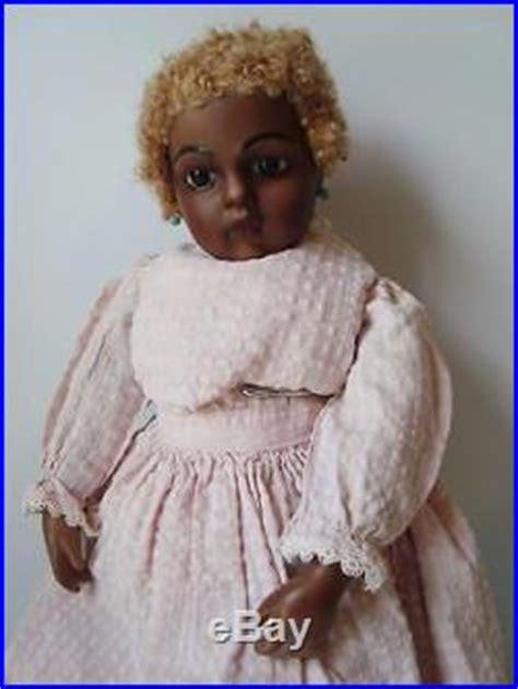 black jumeau doll 17 antique reproduction bru jne black bisque doll