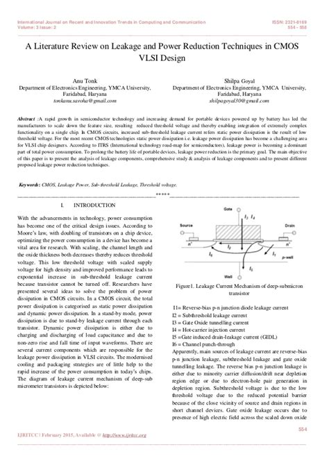 vlsi layout techniques a literature review on leakage and power reduction