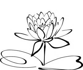 Lotus Flower Drawing Lotus Flower Line Drawing Cliparts Co