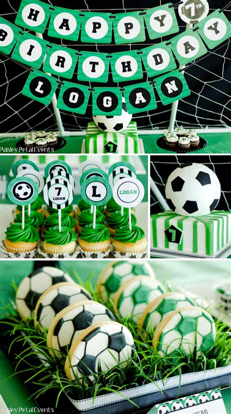 soccer theme decorations soccer birthday pizzazzerie