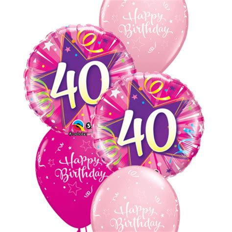 Pink And Black Home Decor by Pink 40th Birthday Balloon Bouquet Party Fever