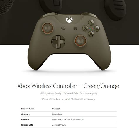Microsoft Xbox One Controller For Windows microsoft xbox one wireless controller for windows green