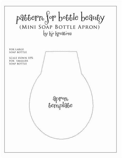 apron pattern for soap bottles diy tutorial retro 1950 s soap bottle apron apron