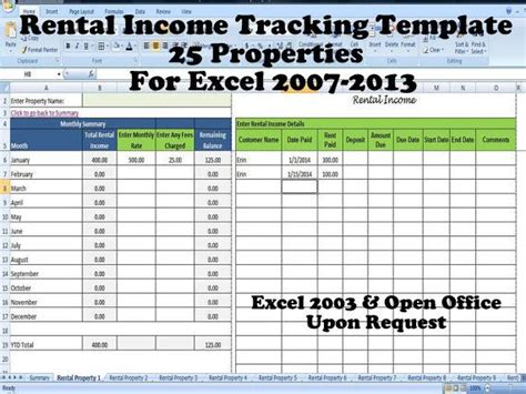 excel rental template 12 best images about rental property management templates