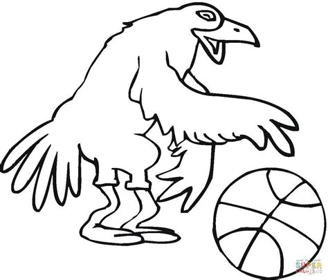 Real Basketball Coloring Pages | bird basketballer coloring page free printable coloring