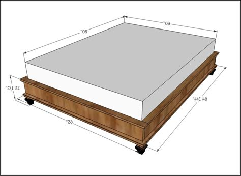 queen bed length dimensions for a queen size bed frame