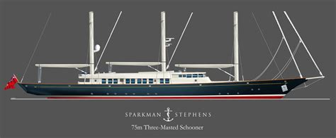 75 feet to meters sparkman stephens designs 75 meter schooner megayacht news