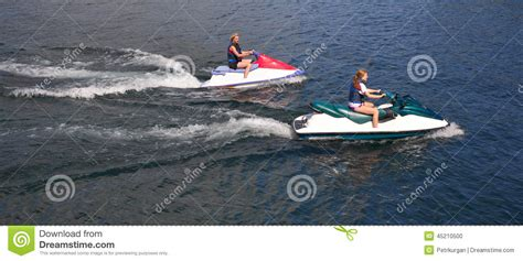 lake youngs boat launch girl and speed boat stock photo image 45210500