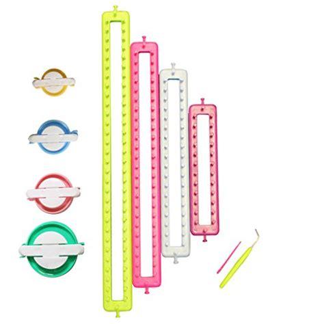 how to use doodle loom pom pom maker curtzytm set of 4 rectangle knitting loom and pom pom