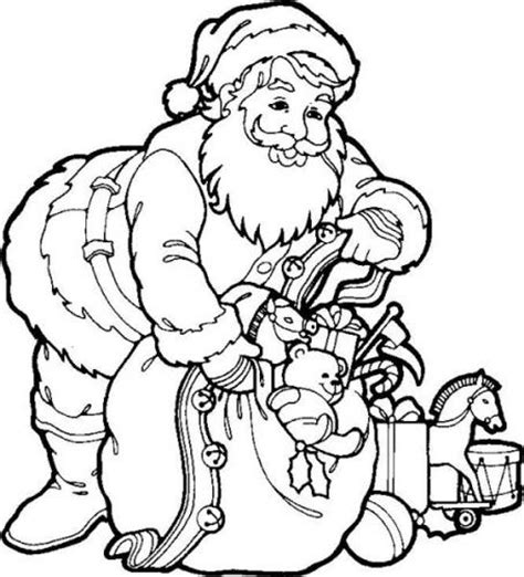 christmas santa coloring pages images amp pictures becuo
