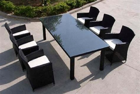 6 Seater Outdoor Dining Table Vancouver Sofa Company 6 Seat Patio Table And Chairs