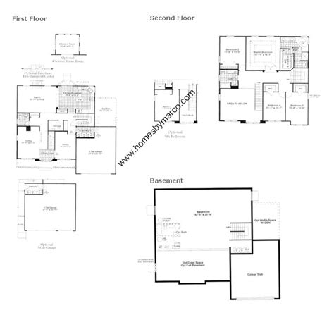 laurel floor plan laurel model in the ashcroft place subdivision in oswego illinois homes by marco