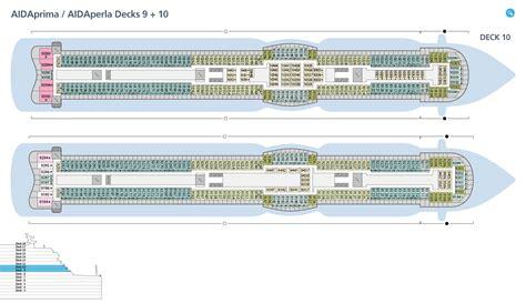aidaprima deckplan 9 deckspl 228 ne f 252 r aidaprima aida kreuzfahrten