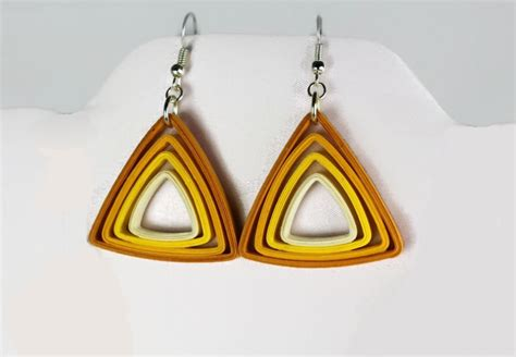 paper triangle earrings modern quilling colors sweethearts and crafts