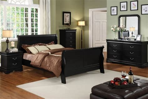 black sleigh bed queen queen braxton black finish sleigh bed