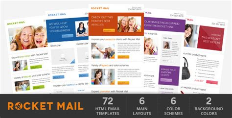 Rocket Mail Clean Modern Email Template By Gifky Themeforest Themeforest Html Email Template