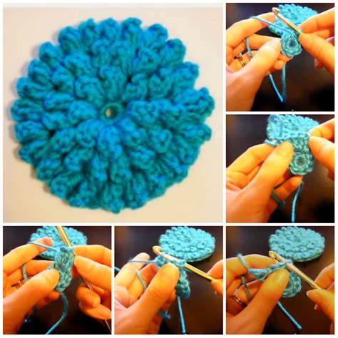 come fare i fiori con l uncinetto fiore con popcorn stitch tutorial