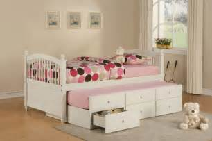 Bedroom Furniture For Girls This Bed Is Genius Trundle And Storage Kids Spaces