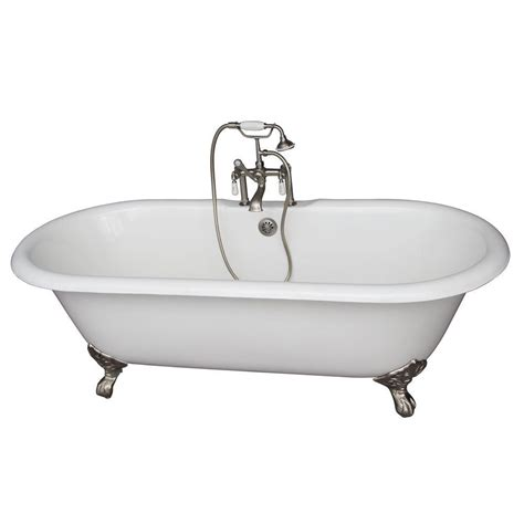 cast iron bathtub home depot barclay products cast iron imperial feet double roll top tub