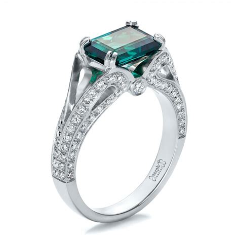 custom emerald and ring 100653
