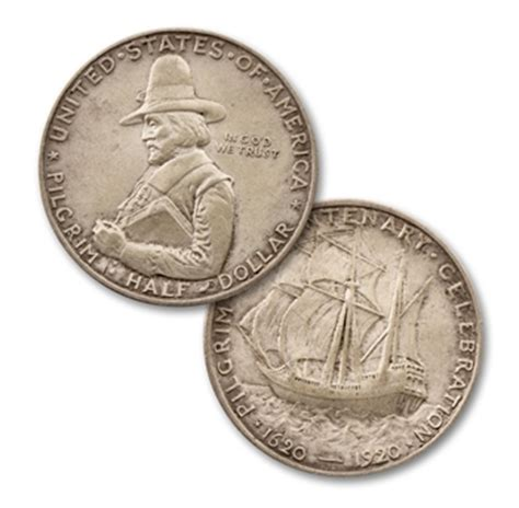 1920 pilgrim tercentenary silver commemorative half dollar