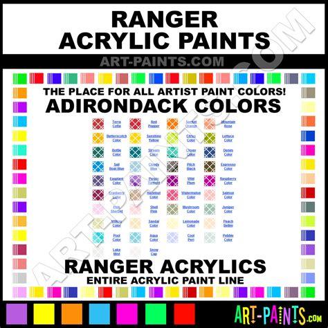 ranger adirondack acrylic paint colors ranger adirondack paint colors adirondack color