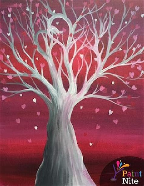 paint nite baltimore paint nite tree of hearts