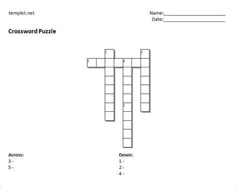 crossword puzzle template free 15 blank crossword template crossword template free
