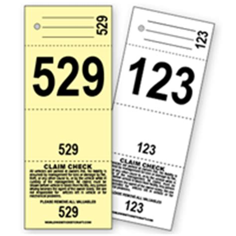 valet ticket template buy design it yourself 3 part valet tickets