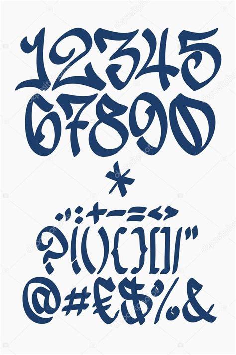 numeros en letra graffiti newhairstylesformen2014 com n 250 meros y s 237 mbolos letra de grafiti escritos a mano