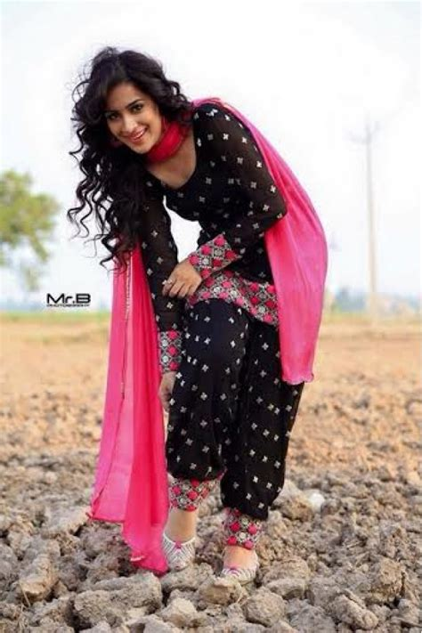 Cotton On 801 designer unstitched punjabi black pink embroidered