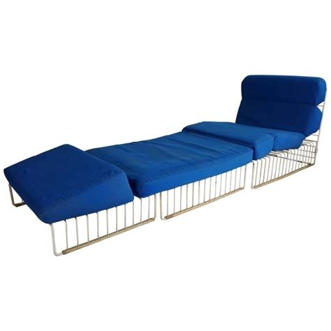 blue sling chaise lounge chair patio ideas pictures 50