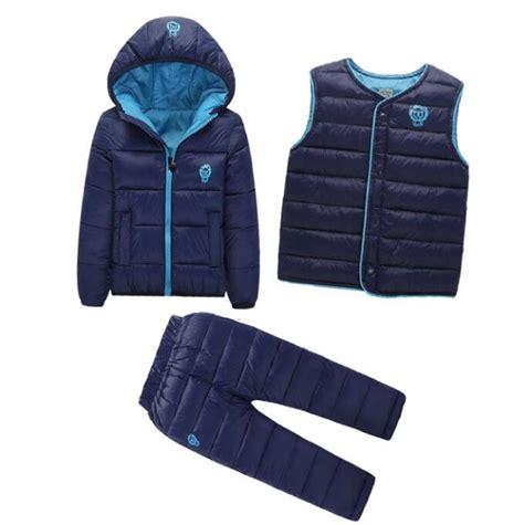 3 pcs 1 lot 2016 winter baby boys clothes sets