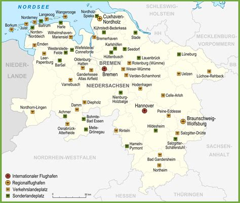 saxony germany map map of airports in lower saxony