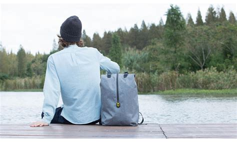 Xiaomi Tas Laptop Ransel Minimalis xiaomi 90 point tas ransel laptop rolltop casual gray