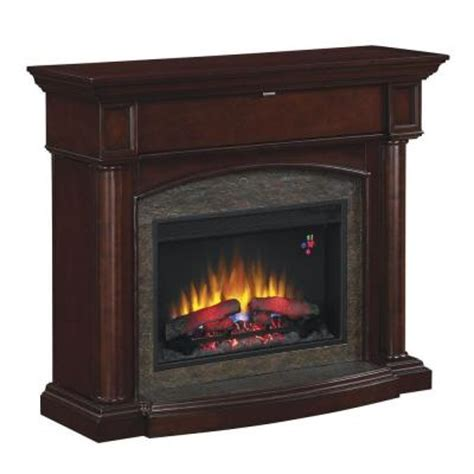 electric fireplace heater home depot chimney free moraine 48 in electric fireplace in roasted