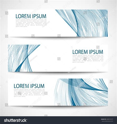 Set Blue Abstrak set abstract blue smooth curve lines stock vector