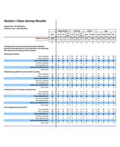 templates for surveys excel survey template 6 free excel documents