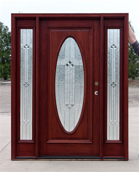 Oval Glass Front Entry Door Oval Glass Solid Mahogany Exterior Doors Clearance