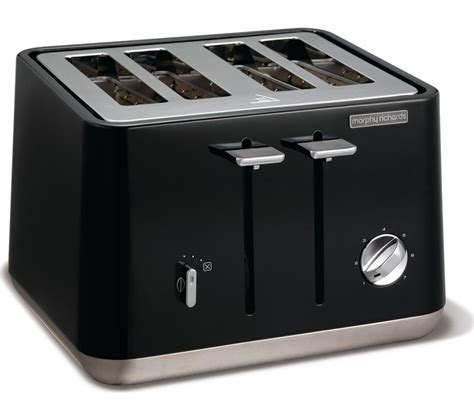 Black 4 Slice Toasters Buy Morphy Richards Aspect 240002 4 Slice Toaster Black