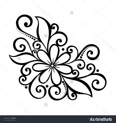 floral pattern design drawing cool easy patterns to draw on paper www pixshark com