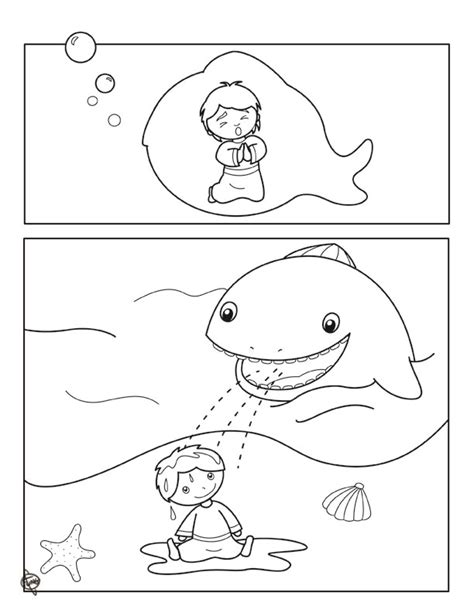 Jonah And The Big Fish Coloring Page Az Coloring Pages Jonah And The Big Fish Coloring Page